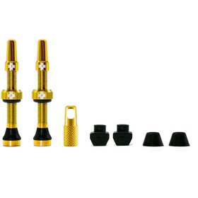 Muc-Off MTB & Road Tubeless Valve Kit 60mm gold